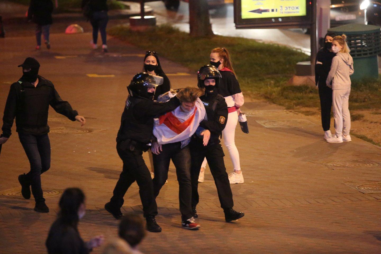 Protestai Baltarusijoje.<br>Reuters/Scanpix nuotr.