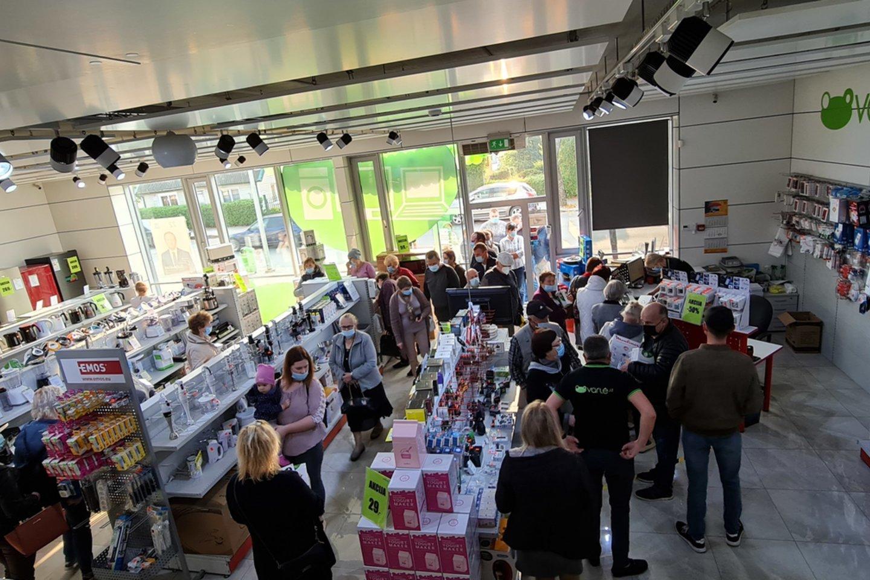 Parduotuvės atidarymo akimirka.<br>Organizatorių nuotr.