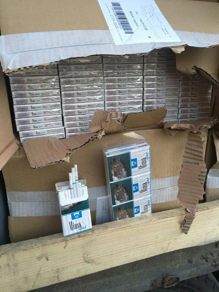 Sulaikyta cigarečių kontrabanda.<br>Muitinės kriminalinės tarnybos nuotr.