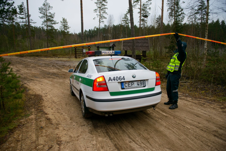 Ukmergės rajone sutelktos gausios policijos pajėgos ieško nežinomomis aplinkybėmis miške dingusio trejų metų berniuko.<br>J.Stacevičiaus asociatyvi nuotr.