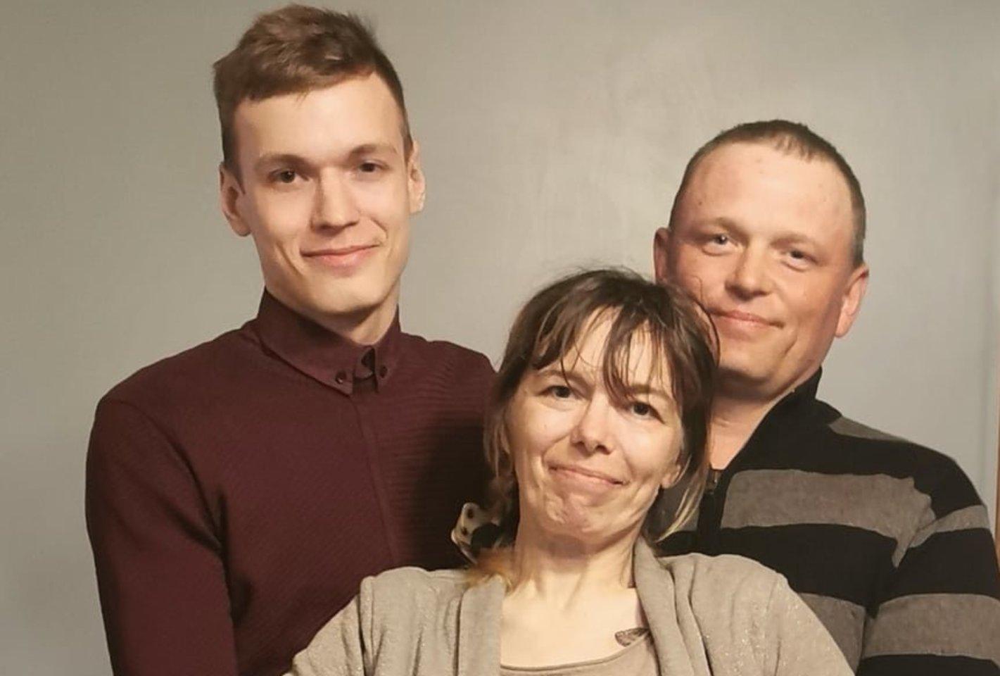 Rūta su vyru ir sūnumi.<br>Asmeninio archyvo nuotr.