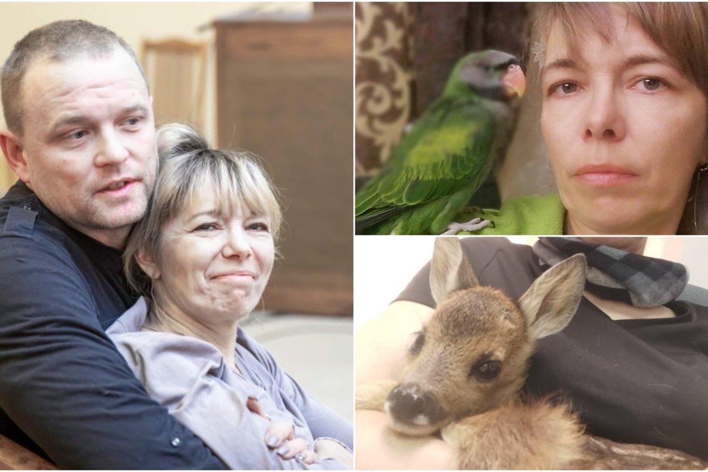 Rūta Jatkonienė gyvūnus mylėjo nuo mažens.<br>Asmeninio archyvo nuotr.
