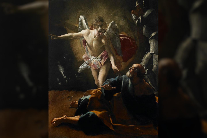 """Paveikslas """"Šventojo Petro išlaisvinimas"""".<br>Giovanni Lanfranco pav. (1620–21 m.)"""