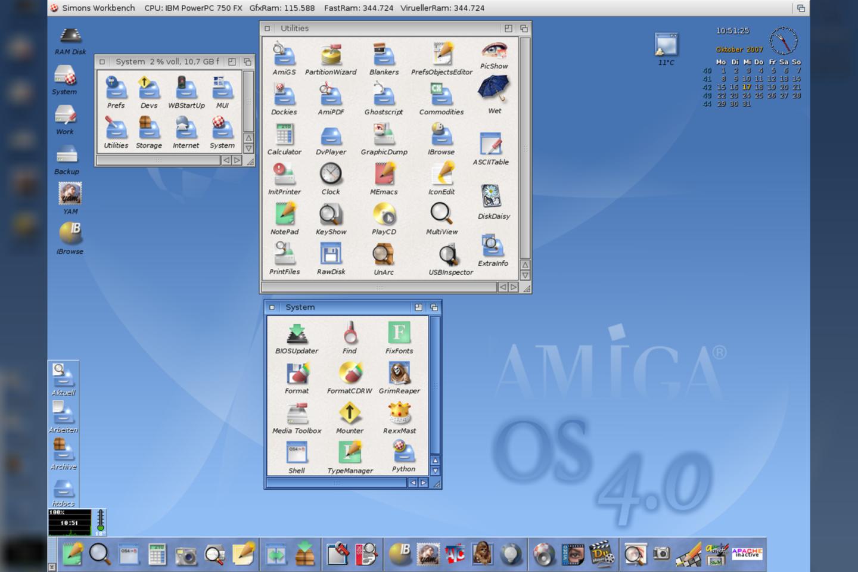 """""""AmigaOS"""" teisės keliavo per skirtingus šeimininkus, o šiuo metu jos priklauso Belgijos kompanijai"""
