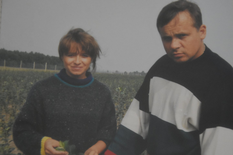 Sodininkai – Vaivos išaugintame medelyne.<br>A.Srėbalienės nuotr.
