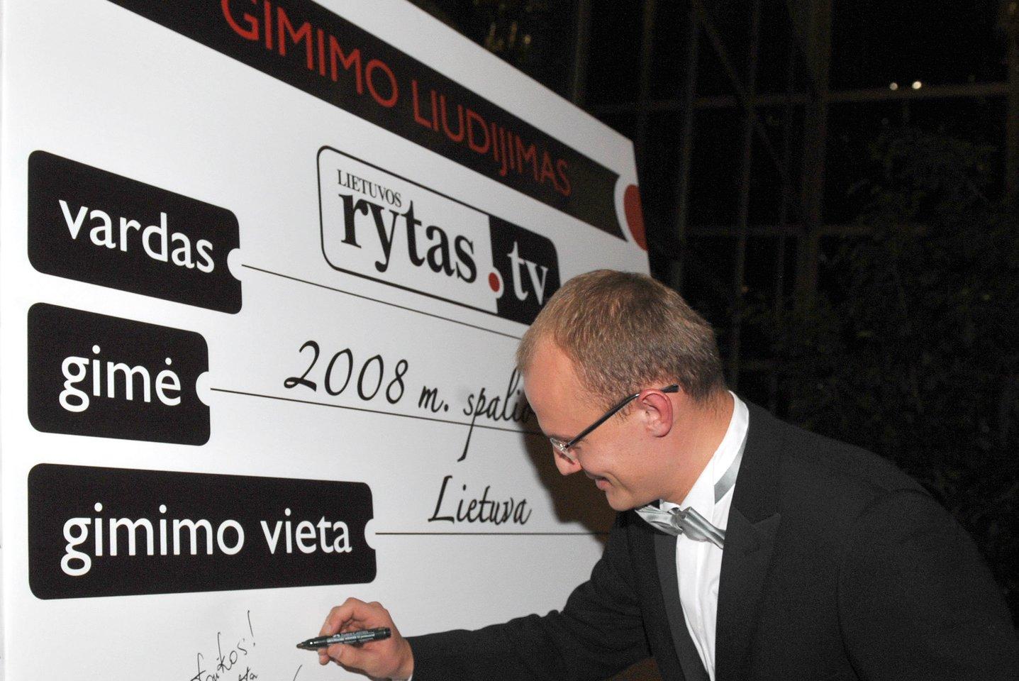 """2008 m. pradėjo transliuoti """"Lietuvos ryto TV"""".<br>P.Lileikio nuotr."""