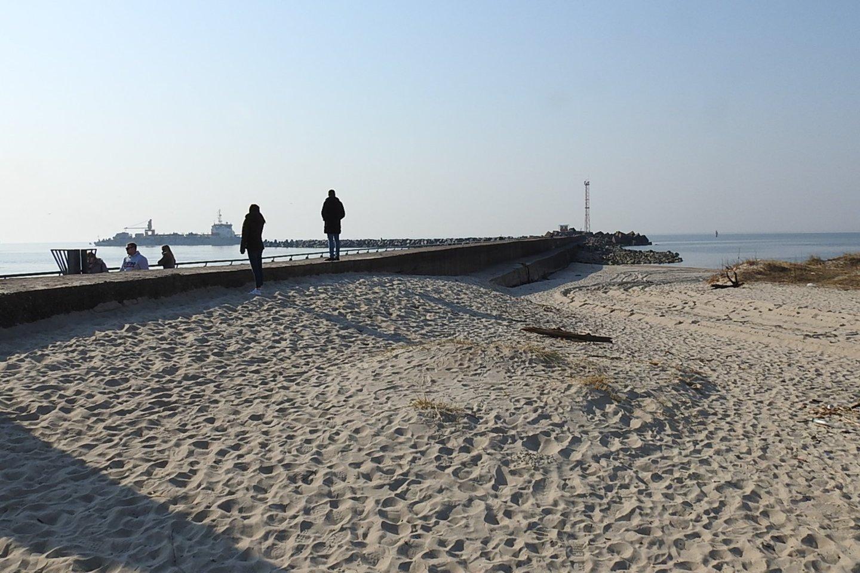 Šiaurinis uosto molas greitai bus uždarytas.<br>G.Pilaičio nuotr.