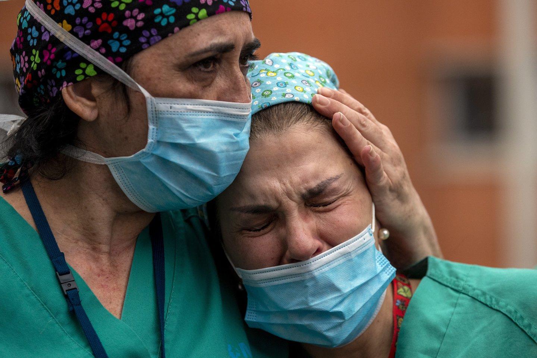 Koronavirusas pasaulyje.<br>AP/Scanpix nuotr.