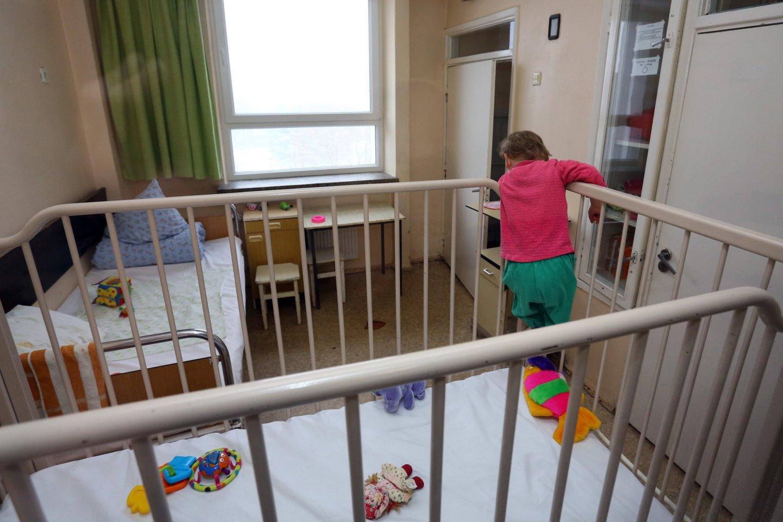 Vaikas , mažylis , sergantis vaikas , berniukas , Kauno klinikinė ligoninė<br>P.Mantauto nuotr.