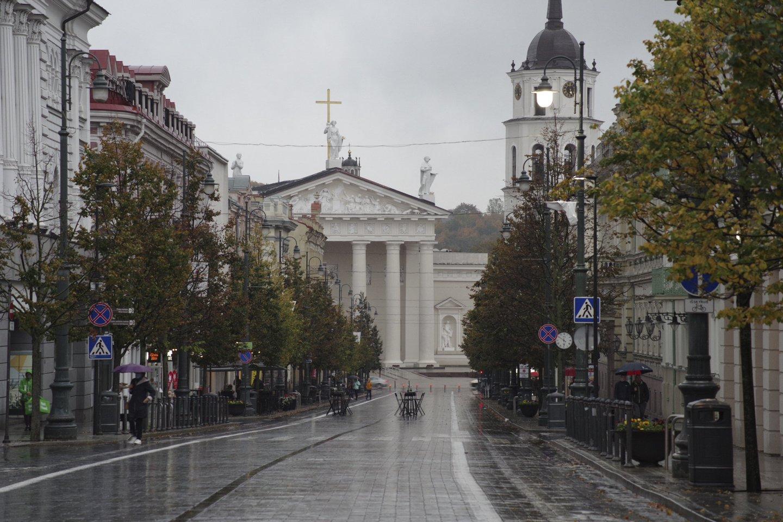 Koronaviruso plitimo stabdymo priemonės Vilniuje.<br>V.Ščiavinsko nuotr.