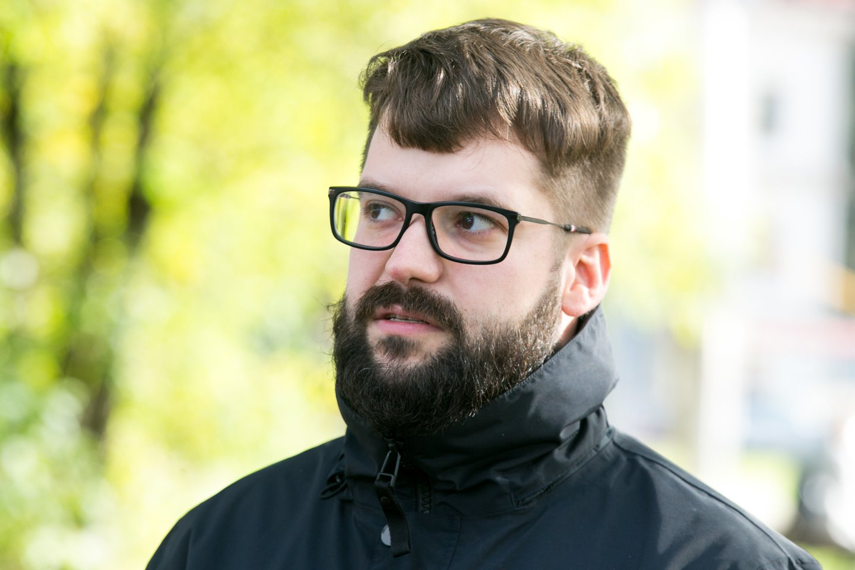 Koronaviruso plitimo stabdymo priemonės Vilniuje.<br>T.Bauro nuotr.