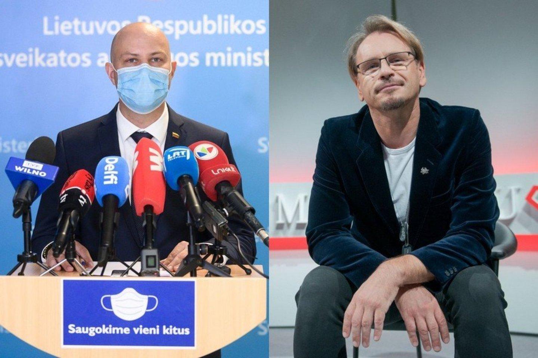 Aurelijus Veryga ir Marijonas Mikutavičius.<br>LR koliažas.