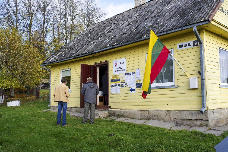 Spalio 25 d. vyko antrasis rinkimų į Seimą turas.<br>V.Ščiavinsko nuotr.