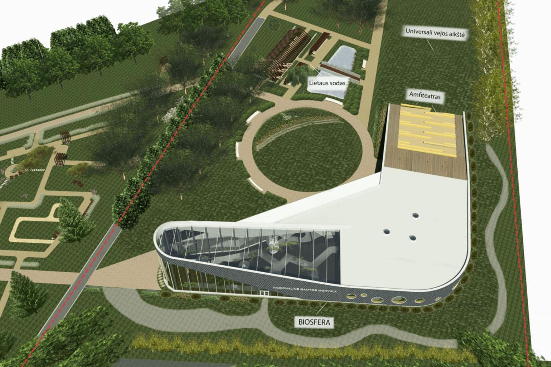 Pavilnių regioninio parko geomorfologiniame draustinyje, Lietuvos jaunųjų gamtininkų centro sklype, planuojamų statybos darbų metu bus atnaujinamos esamos bei sukuriamos naujos edukacijai pritaikytos erdvės, taip pat bus tvarkomi esami želdiniai ir numatomi nauji.<br>vizual.