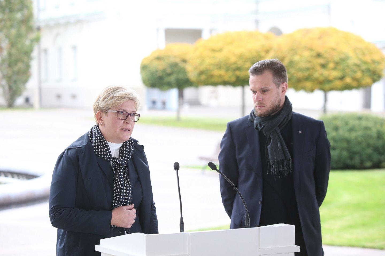 Ingrida Šimonytė ir Gabrielius Landsbergis.<br>R.Danisevičiaus nuotr.