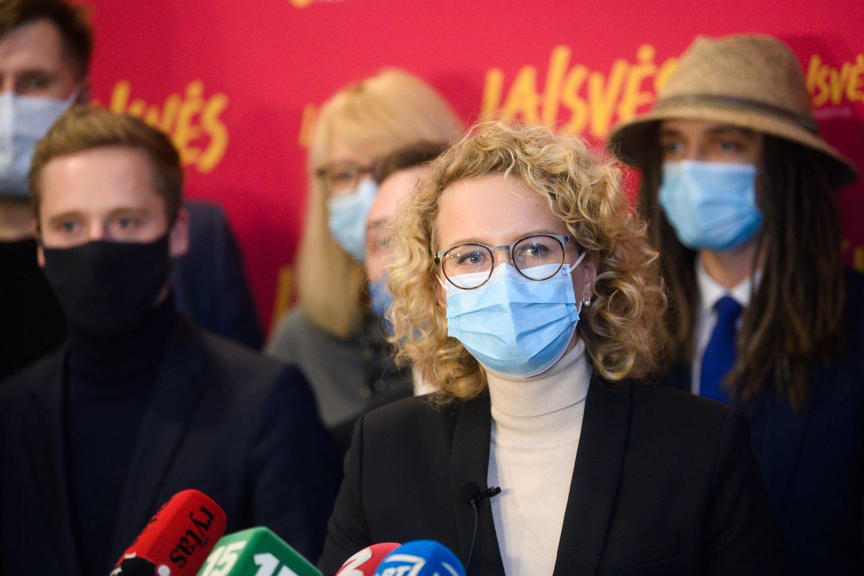 Laisvės partija ir jos pirmininkė Aušrinė Armonaitė.<br>V.Skaraičio nuotr.