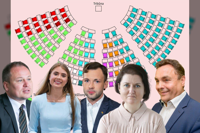 Sekmadienį finišavusiuose Seimo rinkimuose konservatoriai įtvirtino pirmajame ture pasiektą pergalę, kurią padėjo laimėti ir partijos senbuviai, ir politikos naujokai.<br>Lrytas.lt montažas