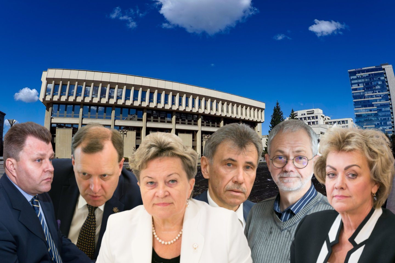 58 – tiek dabartinių Seimo narių jau už mėnesio teks atsisveikinti su šalies parlamento koridoriais – rinkėjų sprendimų, jie nebuvo perrinkti darsyk.<br>Lrytas.lt montažas