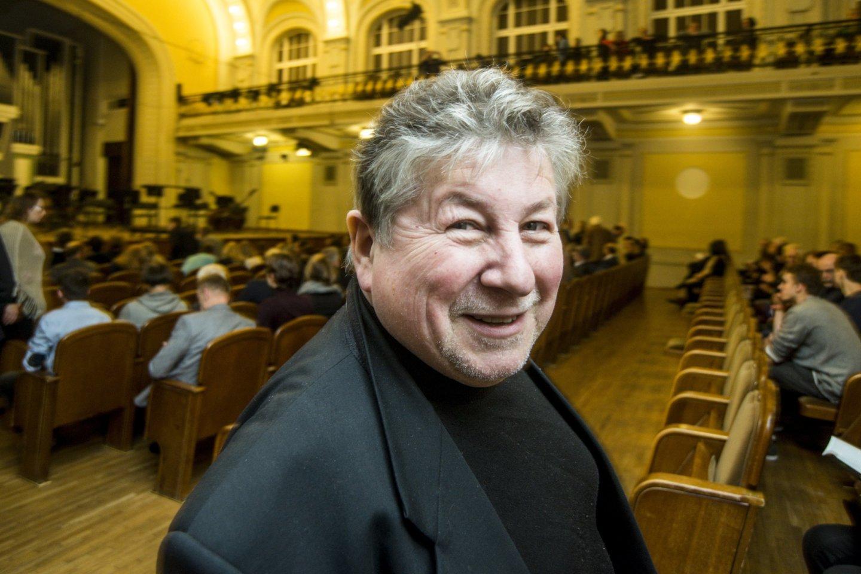 A.Šenderovas – vienas ryškiausių, labiausiai pasaulyje pripažintų šiuolaikinių lietuvių ir litvakų kompozitorių.<br>D.Matvejevo nuotr.
