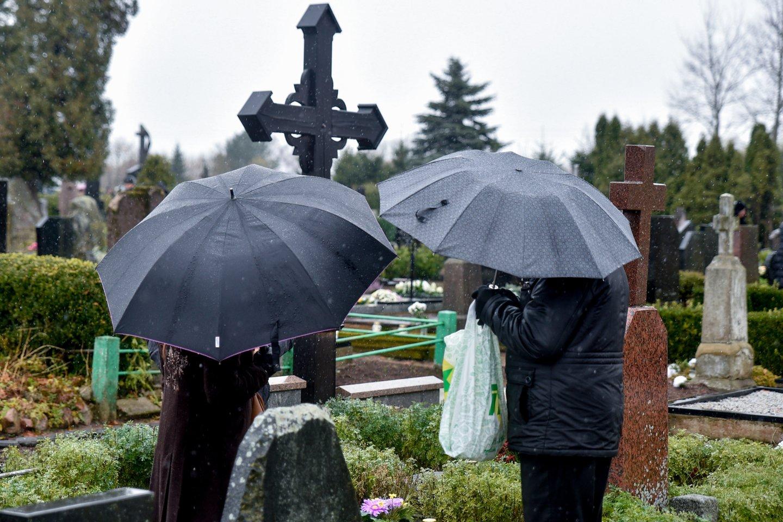 Visi skuba prieš Vėlines sutvarkyti kapus, tačiau yra žmonių, kurie nusprendžia šią paslaugą užsakyti pas kapų tvarkymo įmones.<br>V.Ščiavinsko nuotr.