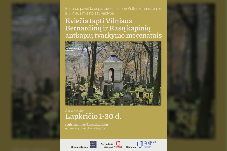 KPD kviečia tapti Vilniaus Bernardinų ir Rasų kapinių antkapių tvarkymo mecenatais.
