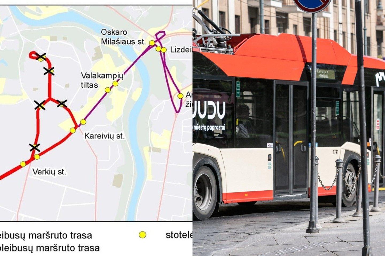 Nuo lapkričio 3 d. dėl remonto darbų Verkių gatvėje keisis 6 troleibusų maršruto trasa ir eismo tvarkaraštis bei 10 troleibusų maršruto tvarkaraštis.<br>Lrytas.lt fotomontažas