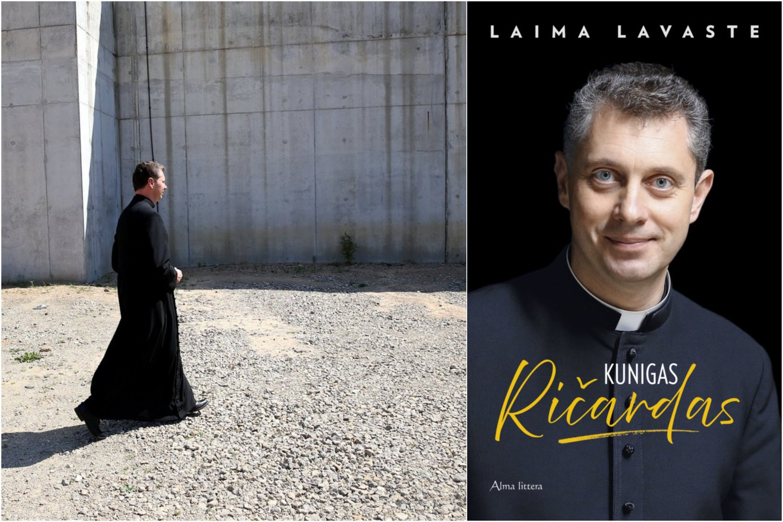 """Leidykla """"Alma Littera"""" Kalėdoms išleidžia unikalią knygą – """"Kunigas Ričardas"""" (410 psl).Tai galbūt pirmoji tokia atvira knyga apie kunigo gyvenimo kelią.<br>Lrytas.lt koliažas"""