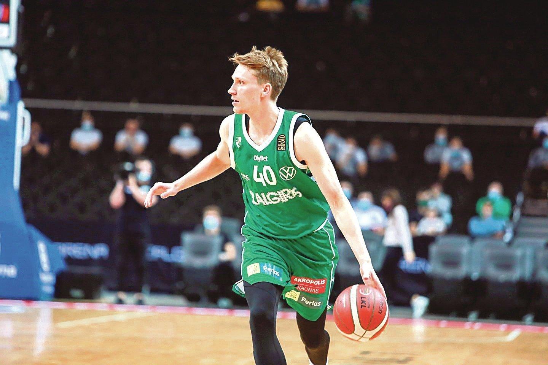 Karjeros rungtynes sužaidęs M. Grigonis – naudingiausias Eurolygos turo žaidėjas.<br>zalgiris.lt nuotr.