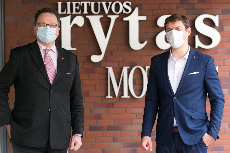 Renaldas Čiužas ir Tautvydas Mikalajūnas.<br>T.Bauro nuotr.