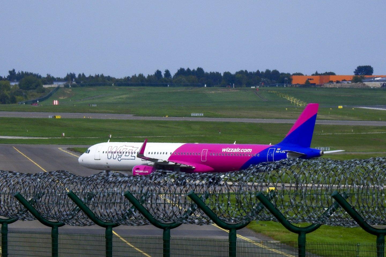 """""""WizzAir"""" suskaičiavo nuostolius.<br>V.Ščiavinsko nuotr."""