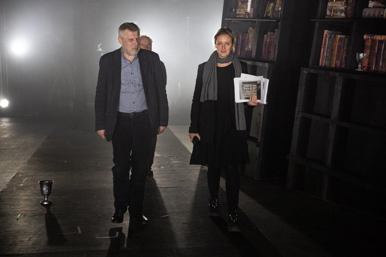 F.Latėnas ir režisierė G.Tuminaitė.<br>Ameninio archyvo nuotr.
