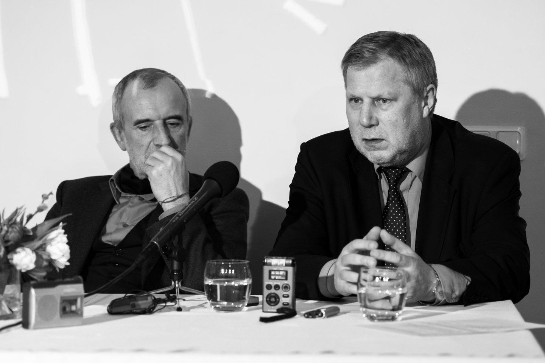 R.Tuminas ir F.Latėnas (dešinėje).<br> L.Vansevičienės nuotr.