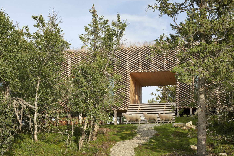 """Vakarinėje Norvegijos slidinėjimo kurorto Kvitfjellio pusėje, į šiaurę nuo Lillehammerio, architektų biuras """"Mork-Ulnes Architects"""" kalnuose suprojektavo 145 kv. m ploto namelį.<br>Bruce Damonte / archdaily.com nuotr."""