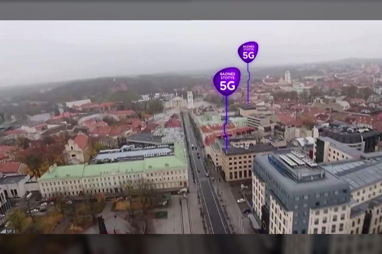 """""""Telia Lietuva"""" 5G ryšio antenos Vilniuje.<br>""""Telia Lietuva"""" iliustr."""