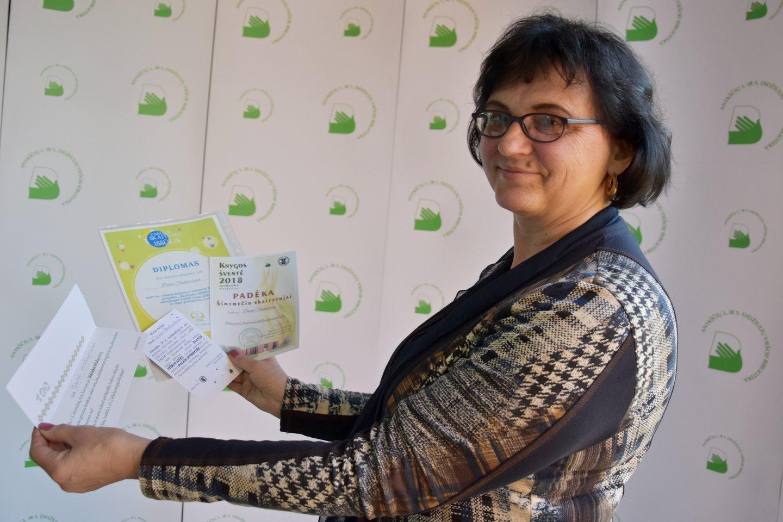 Apdovanojimai, kuriuos Daiva gavo kaip knygų skaitytoja.<br>A.Srėbalienės nuotr.