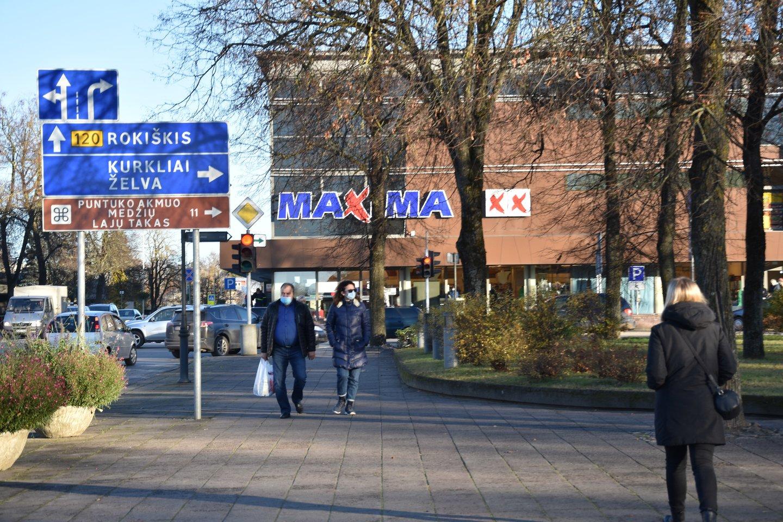 """Ši """"Maxima"""" parduotuvė Anykščiuose – vienintelė.<br>A.Srėbalienės nuotr."""