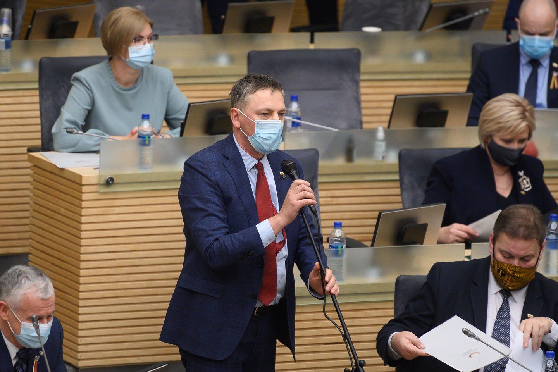 Penktadienį įvyko pirmasis 13-ojo Seimo posėdis.<br>V.Skaraičio nuotr.