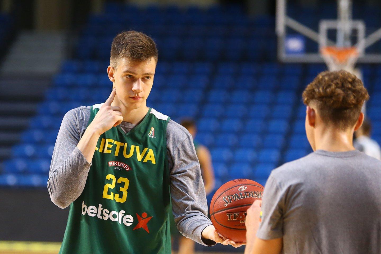 Marekas Blaževičius debiutavo rinktinėje.<br>G.Šiupario nuotr.