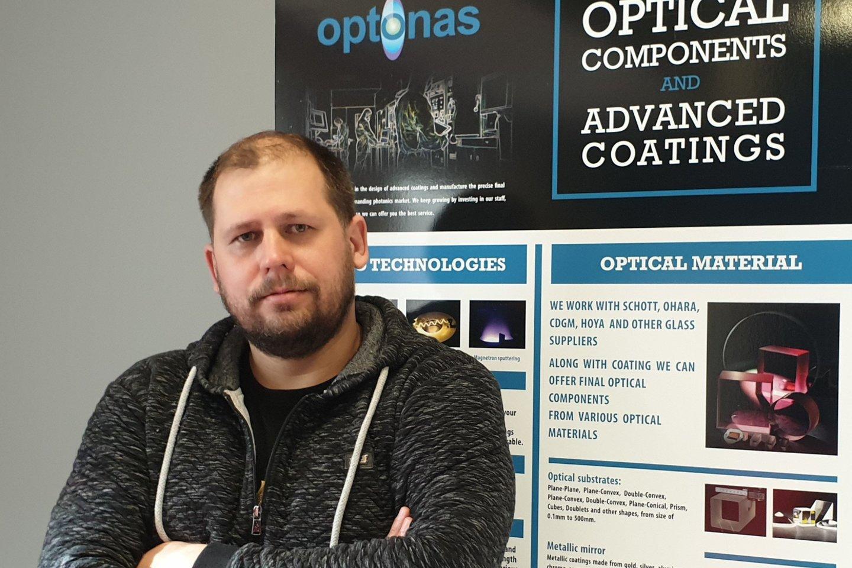 """""""Optono"""" įkūrėjas ir vadovas Gintas Jakubėnas."""