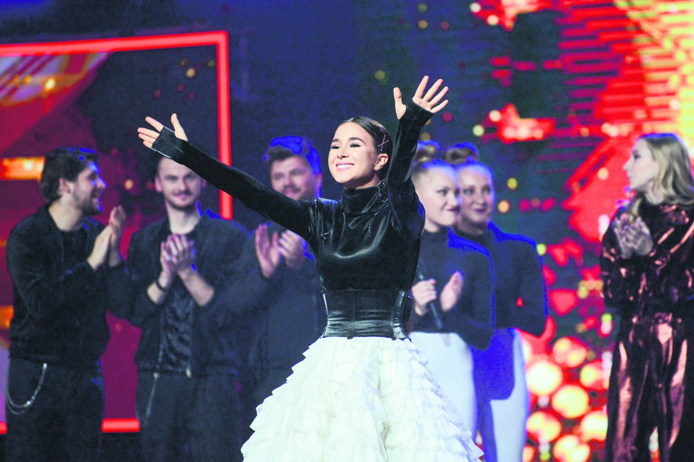 """Šou """"X faktorius. Žvaigždės"""" superfinale M.Daikerytė įveikė penkis varžovus.<br>Organizatorių nuotr."""