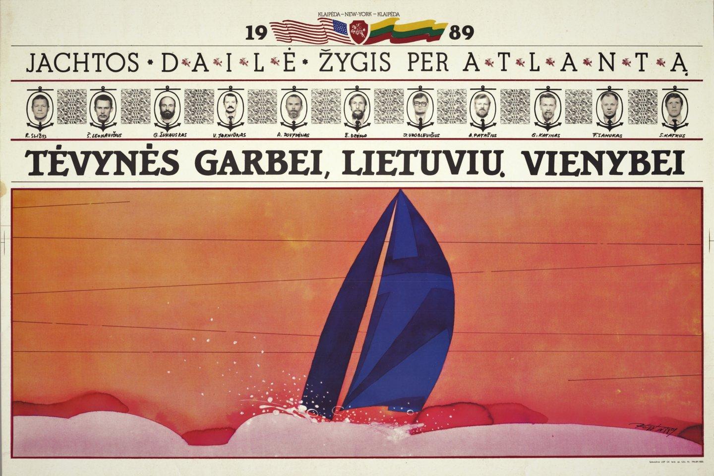 "Jachtos ""Dailė"" plakatas.<br>Lietuvos jūrų muziejaus nuotr."