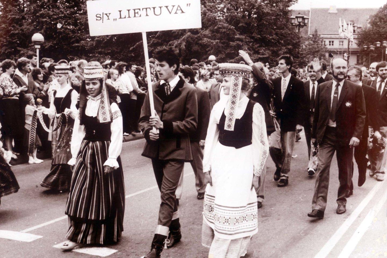Žygio dalyvių sutiktuvės Klaipėdoje.<br>A.Gylio nuotr.
