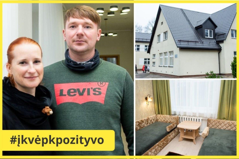 Eglė ir Andrius Talačkai buvusios mokyklos pastate įsteigs senelių globos namus.<br>R. Ančerevičiaus nuotr.