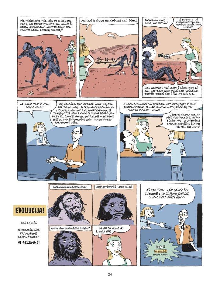 """""""Sapiens"""" komikso ištrauka."""
