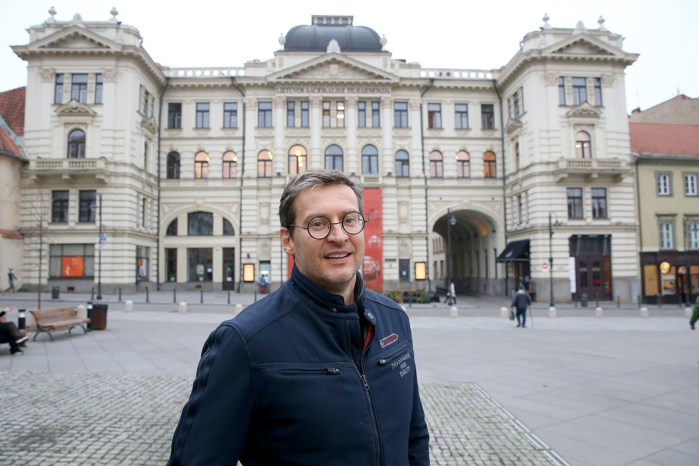 """Nors maestro karjera pasuko į Šveicariją, Vilnius jo širdyje užima išskirtinę vietą: """"Čia – tikrieji mano namai.""""<br>R.Danisevičiaus nuotr."""