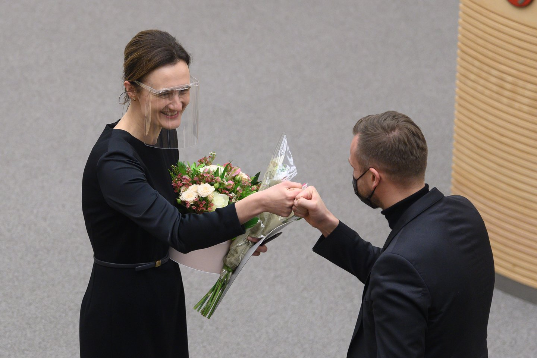 Viktorija Čmilytė-Nielsen, Gabrielius Landsbergis<br>V.Skaraičio nuotr.