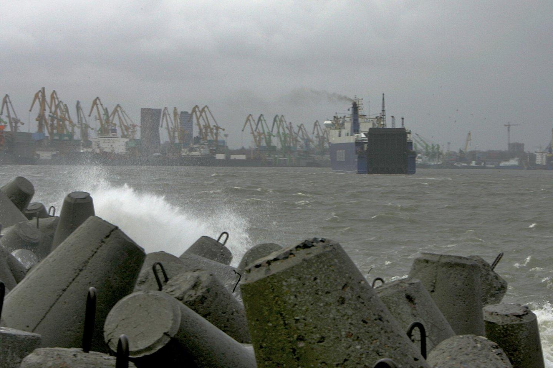 Po daugiau kaip paros Klaipėdos uoste atnaujinta laivyba.<br>V.Ščiavinsko nuotr.