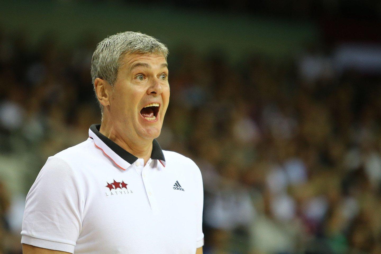 Ukrainos rinktinės treneris Ainaras Bagatskis.<br>G.Šiupario nuotr.