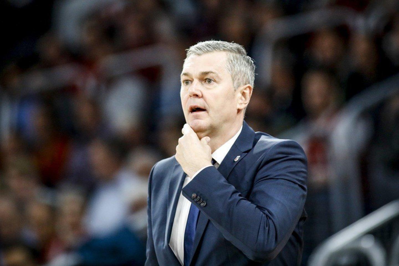 Ukrainos rinktinės treneris Ainaras Bagatskis.<br>championsleague.basketball.com