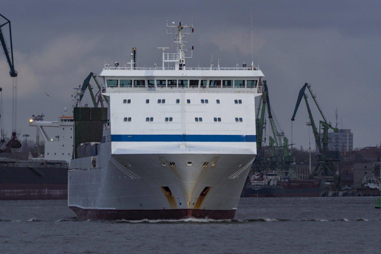 Šeštadienį Baltijos jūroje buvo pakilęs stiprus vėjas ir kilusi audra, todėl keli kiti keltai neplaukė.<br>V.Ščiavinsko asociatyvi nuotr.